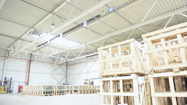 Distribution centre heating systems in operation
